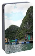 Homes On Ha Long Bay Gulf Of Tonkin  Portable Battery Charger