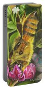 Honey Bee On Mexican Heather Portable Battery Charger