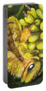 Honey Bee On Wild Golden Glow Portable Battery Charger