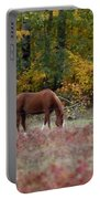 Horse In Fall Portable Battery Charger
