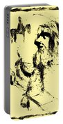 Horsemen On Yellow Portable Battery Charger