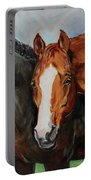 Horses In Oil Paint Portable Battery Charger