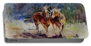 Horses On Work Portable Battery Charger