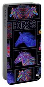 Horses Poster Portable Battery Charger
