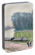 Houseboats On The River Loing Portable Battery Charger