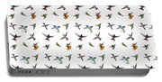 Hummingbirds Of Trinidad And Tobago On White Portable Battery Charger