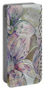I Am...positive Affirmation Art In Lavendar And Rose Portable Battery Charger by Shadia Derbyshire