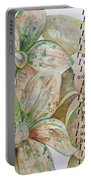 I Am...positive Affirmation In Coral And Green Portable Battery Charger by Shadia Derbyshire