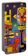 I Come In Peace - Heavy Metal Portable Battery Charger by Sotuland Art