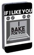 I Love Baking Bake Funny Baker Gift Portable Battery Charger