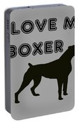 I Love My Boxer Portable Battery Charger