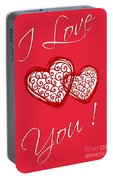 I Love You Hearts Portable Battery Charger