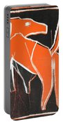 I Was Born In A Mine Orange Dog 33 Portable Battery Charger