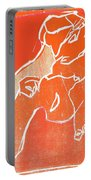 I Was Born In A Mine Woodcut 19 Portable Battery Charger