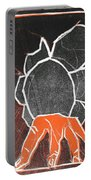 I Was Born In A Mine Woodcut 24 Portable Battery Charger