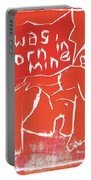 I Was Born In A Mine Woodcut 56 Portable Battery Charger