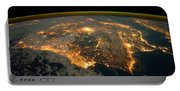 Iberian Peninsula From Space Portable Battery Charger