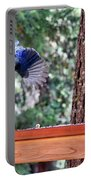 Incoming Steller's Jay Portable Battery Charger