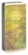 Indian Territory Tribal Map Northern Texas Portable Battery Charger