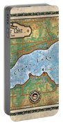 Iowa Clear Lake Custom Map Custom Map Art Portable Battery Charger
