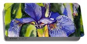 Iris In Bloom Portable Battery Charger