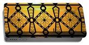 Iron Lattice Pattern St Malo Sunset Portable Battery Charger