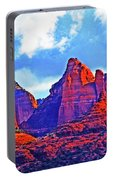 Jack's Canyon Village Of Oak Creek Arizona Sunset Red Rocks Blue Cloudy Sky 3152019 5080  Portable Battery Charger