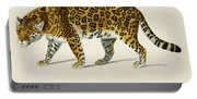 Jaguar  Panthera Onca  Illustrated By Charles Dessalines D' Orbigny  1806-1876  Portable Battery Charger