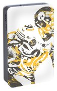 James Connor Pittsburgh Steelers Pixel Art 3 Portable Battery Charger