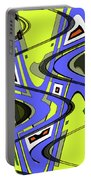Janca Yellow And Blue Wave Abstract, Portable Battery Charger