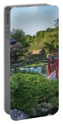 Japanese Garden #2 - Pagoda And Red Bridge Portable Battery Charger