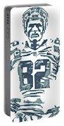 Jason Witten Dallas Cowboys Pixel Art 22 Portable Battery Charger