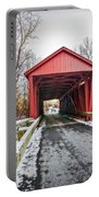 Jericho Covered Bridge Snow Portable Battery Charger