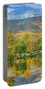 Jerome Reflected In Deadhorse Ranch Pond Portable Battery Charger