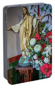 Jesus Christ With Flowers Portable Battery Charger