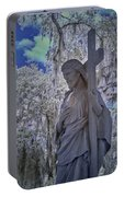 Jesus Graveyard Statue Portable Battery Charger