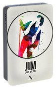 Jim Watercolor Poster Portable Battery Charger