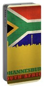 Johannesburg South Africa World City Flag Skyline Portable Battery Charger