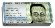 John Lennon Immigration Green Card 1976 Portable Battery Charger