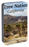 Joshua Tree National Park Valley, California Portable Battery Charger