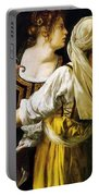 Judith And Her Maidservant 1613 Portable Battery Charger