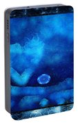 Kaleidoscope Moon For Children Gone Too Soon Number - 4 Cerulean Valentine  Portable Battery Charger