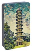Kanagawa - Pagoda -  Kew Gardens Portable Battery Charger