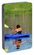 Kayaker In The Wild Portable Battery Charger