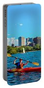 Kayaking On The Charles Portable Battery Charger