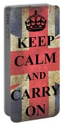 Keep Calm And Carry On Portable Battery Charger