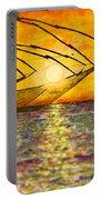 Kerala Sunset Portable Battery Charger by Joel Tesch