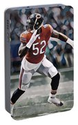 Khalil Mack Chicago Bears Abstract Art 1 Portable Battery Charger