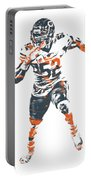 Khalil Mack Chicago Bears Pixel Art 1 Portable Battery Charger