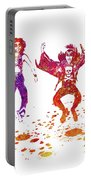 Kiss Band Watercolor Splatter 01 Portable Battery Charger